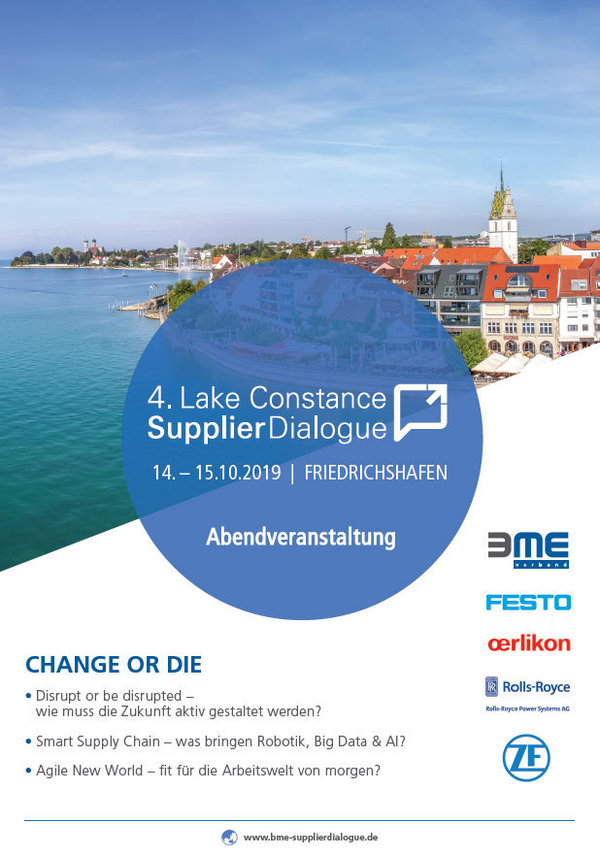Kongress und Vorabendveranstaltung Lake Constance Supplier Dialogue